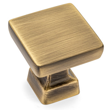 Cosmas 1480BAB Brushed Antique Brass Modern Contemporary Square Cabinet Knob