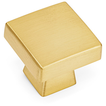 Cosmas 5233BB Brushed Brass Square Contemporary Cabinet Knob