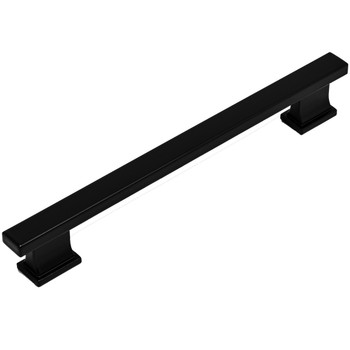Cosmas 702-160FB Flat Black Contemporary Cabinet Pull