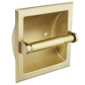 Designers Impressions Brushed Brass Recessed Toilet / Tissue Paper Holder Mounting Bracket Included: 10821