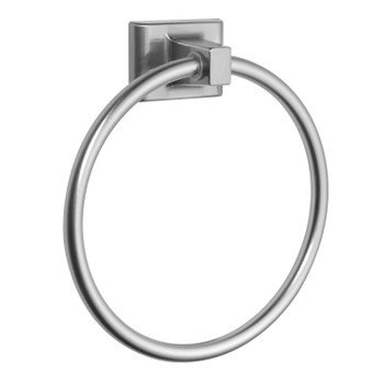 Designers Impressions Eclipse Series Satin Nickel Towel Ring: MBA6224