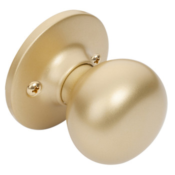 Designers Impressions Bedford Design Satin Brass Dummy Door Knob: 77-1651
