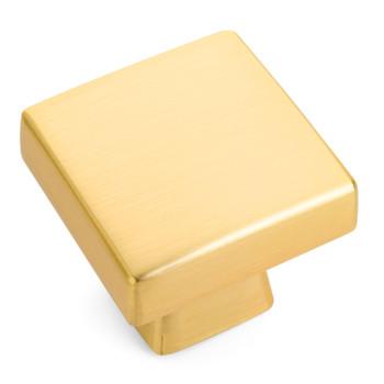 Cosmas 5233BG Brushed Gold Square Contemporary Cabinet Knob