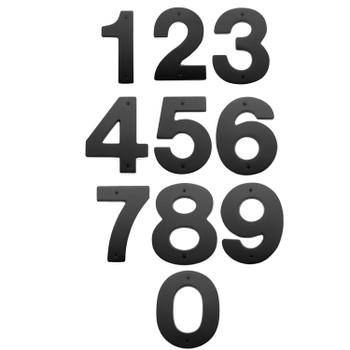 "Designers Impressions Flat Black 5"" House Number"