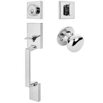 Designers Impressions Keeneland Design Polished Chrome Contemporary Handleset with Bedford Interior