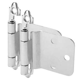 Cosmas 16890-CH Polished Chrome Hinge Variable Overlay with 30 Degree Reverse Bevel (Pair)