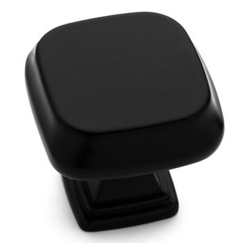 Cosmas 1487FB Flat Black Modern Contemporary Square Cabinet Knob