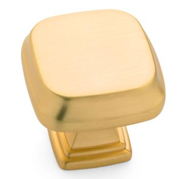 Cosmas 1487BG Brushed Gold Modern Contemporary Square Cabinet Knob