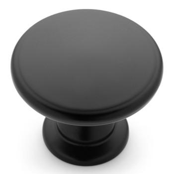 Cosmas 13248FB Flat Black Round Contemporary Cabinet Knob