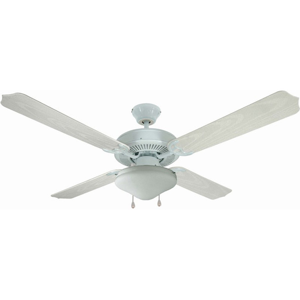 "White 52"" Outdoor Ceiling Fan : 6977"