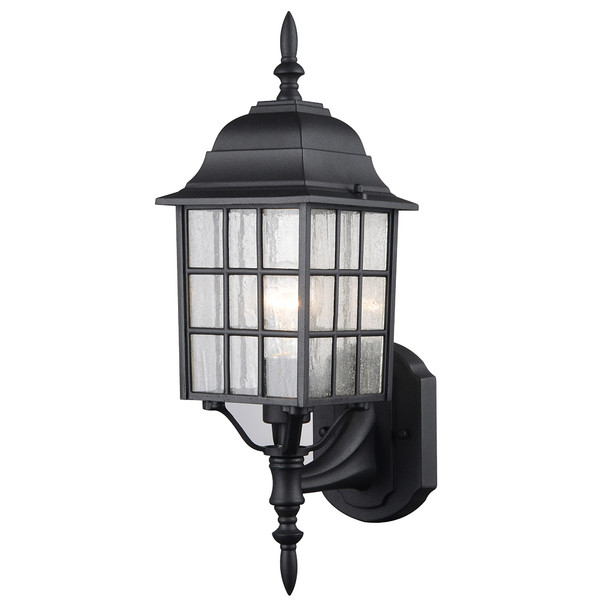 Black Outdoor Patio / Porch Exterior Light Fixture : 22-9449