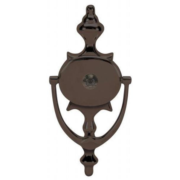 """Oil Rubbed Bronze 8"""" Door Knocker with Viewer: 55-2117"""