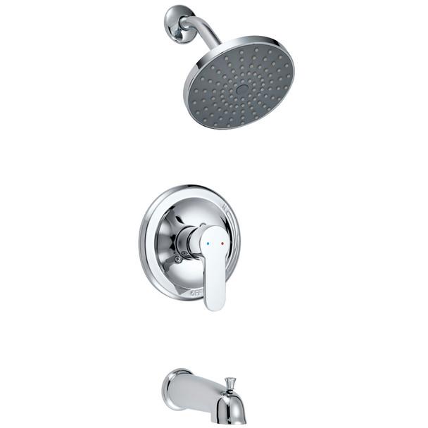 Designers Impressions 685755 Polished Chrome Single Handle Tub / Shower Combo Faucet