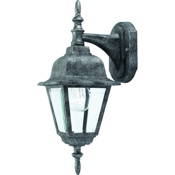 Antique Silver Outdoor Patio / Porch Exterior Light Fixture : 54-4304