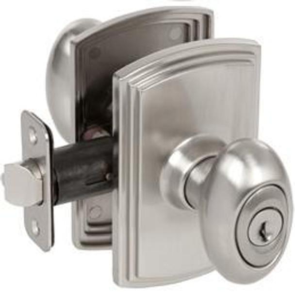 Delaney Canova Design Satin Nickel Entry Door Knob (Front & Back): 100T-CN-US15