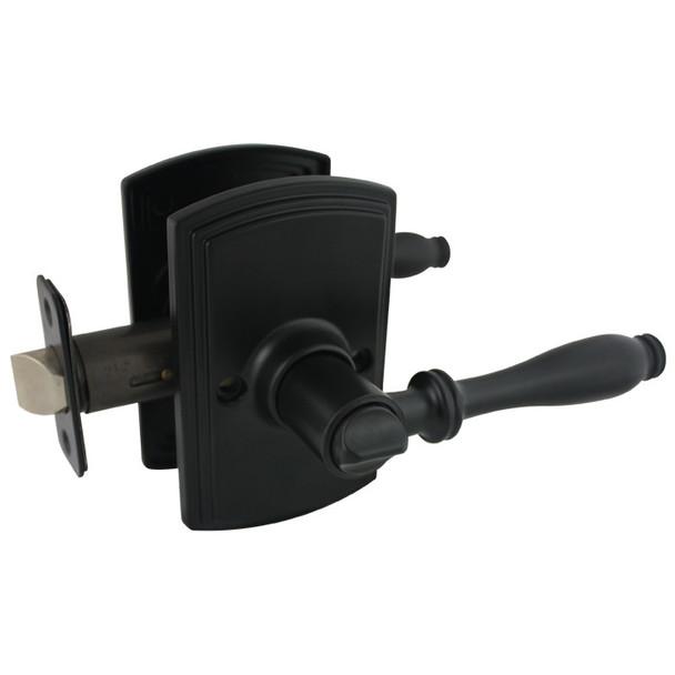 Delaney Sorado Design Black Privacy Door Lever (Bed & Bath): 502T-SO-BLACK