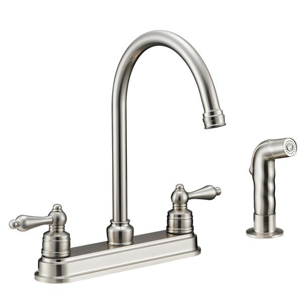 Designers Impressions 610071 Satin Nickel Kitchen Faucet w/ Sprayer