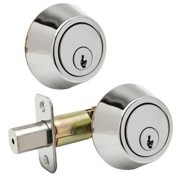 Designers Impressions Polished Chrome Double Cylinder Deadbolt: 88-2222