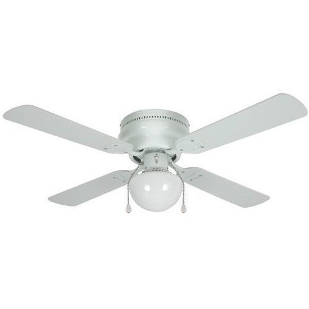 "White 42"" Hugger Ceiling Fan w/ Light Kit : 3603"