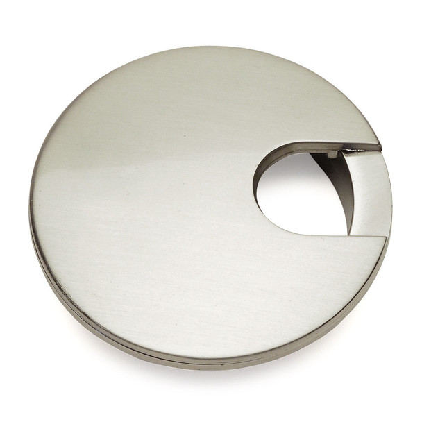 "Cosmas 50203SN Satin Nickel Desk Grommet - 3"" Overall Diameter"