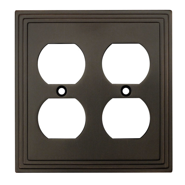 Cosmas 25012-ORB Oil Rubbed Bronze Double Duplex Outlet Wall Plate