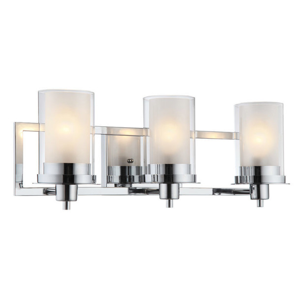 Avalon Chrome 3 Light Wall Sconce / Bathroom Fixture: 21-0522