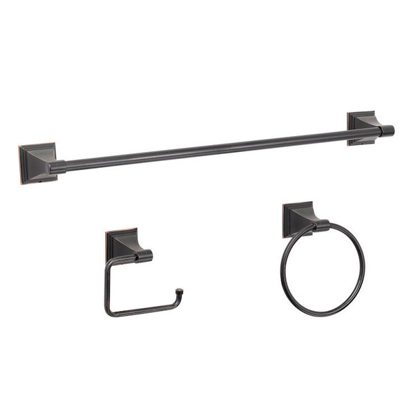 Designers Impressions 500 Series 3 Piece Oil Rubbed Bronze Bathroom Hardware Set: BA500-3