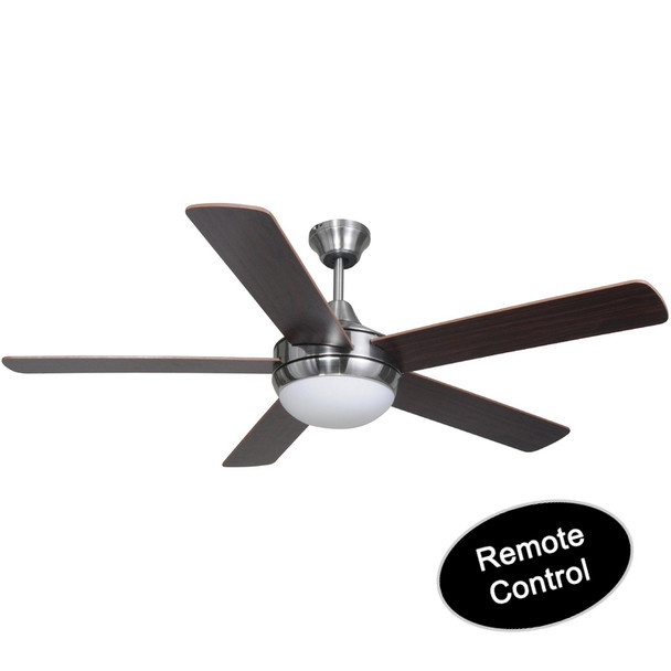"Riverchase Satin Nickel Remote Control 52"" Ceiling Fan w/ Light Kit : 7164"