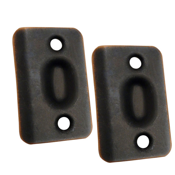 Designers Impressions Oil Rubbed Bronze Replacement Ball Catch Strike Plates (Pair): PL-002