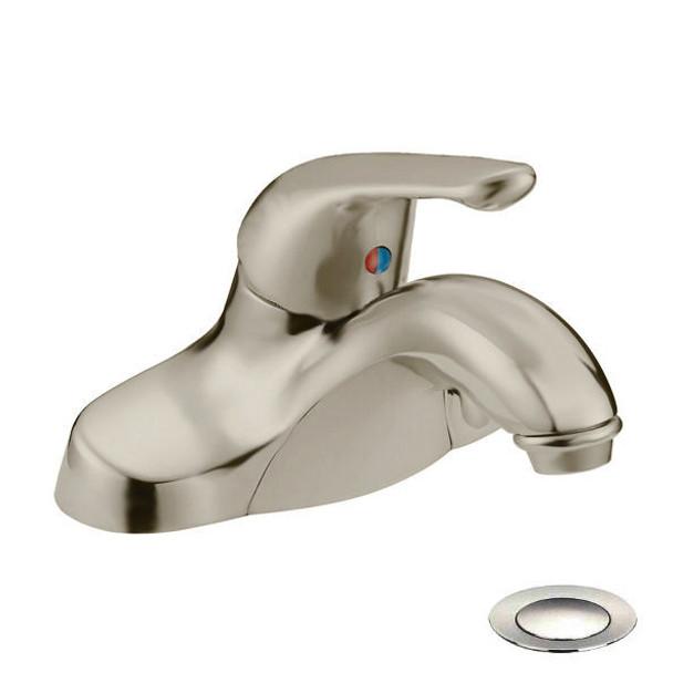 Designers Impressions 611595 Satin Nickel Single Handle Lavatory Vanity Faucet
