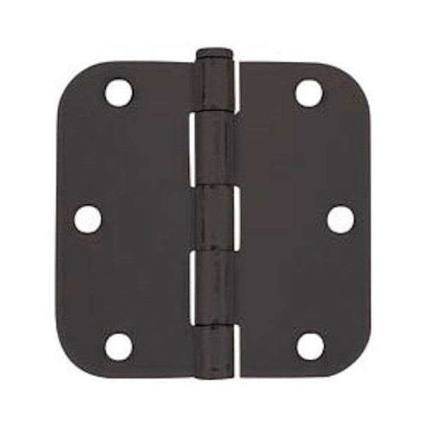 "Cosmas Matte Black Door Hinge 3.5"" with 5/8"" Radius Corners: 37564"