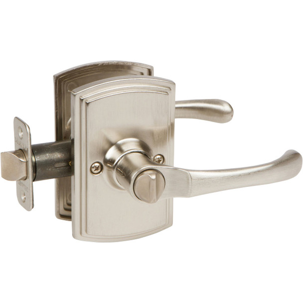 Delaney Artino Design Satin Nickel Privacy Door Lever (Bed & Bath): 502T-AR-US15