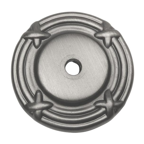 Cosmas 9468AS Antique Silver Cabinet Knob Backplate