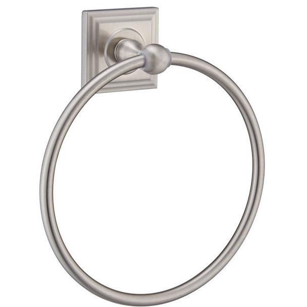 Designers Impressions Aurora Series Satin Nickel Towel Ring: 49748