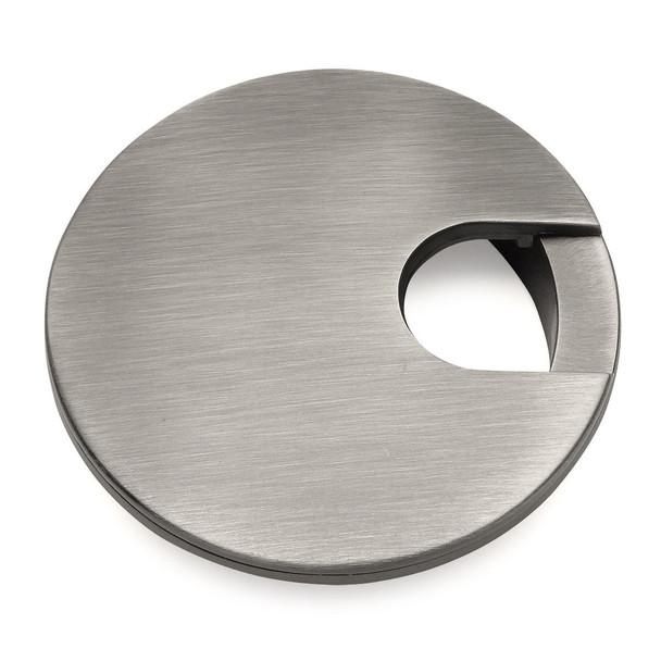 "Cosmas 50203AS Antique Silver Desk Grommet - 3"" Overall Diameter"
