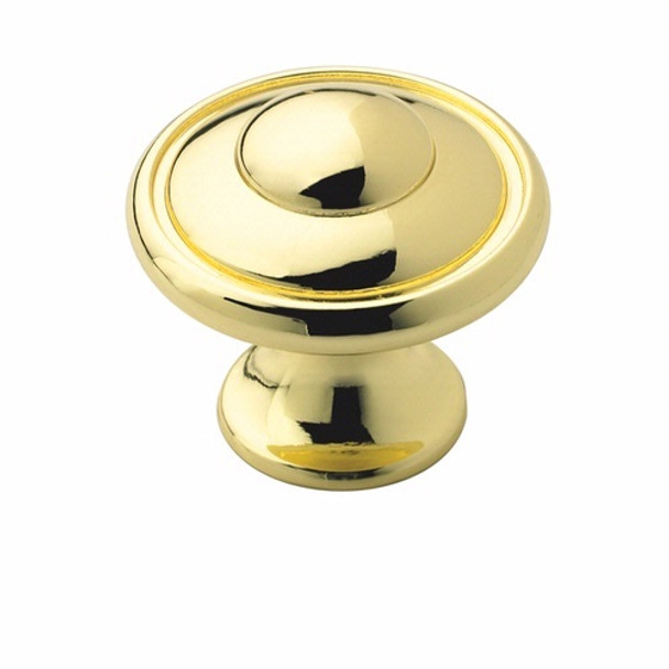 Amerock BP53002-3 Allison Polished Brass Discus Cabinet Knob