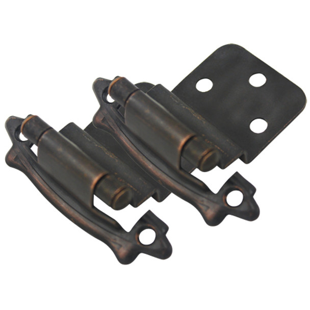 "Cosmas 17328-ORB Oil Rubbed Bronze Hinge 3/8"" Inset (Pair)"