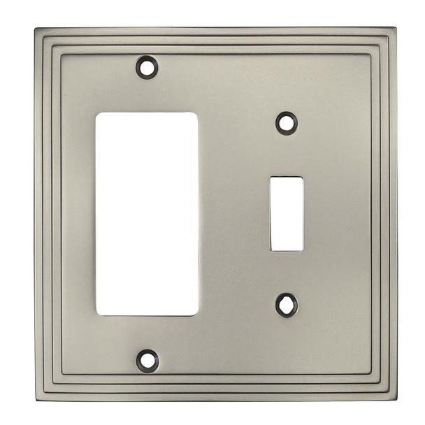 Cosmas 25077-SN Satin Nickel Single Toggle / GFCI Decora Combo