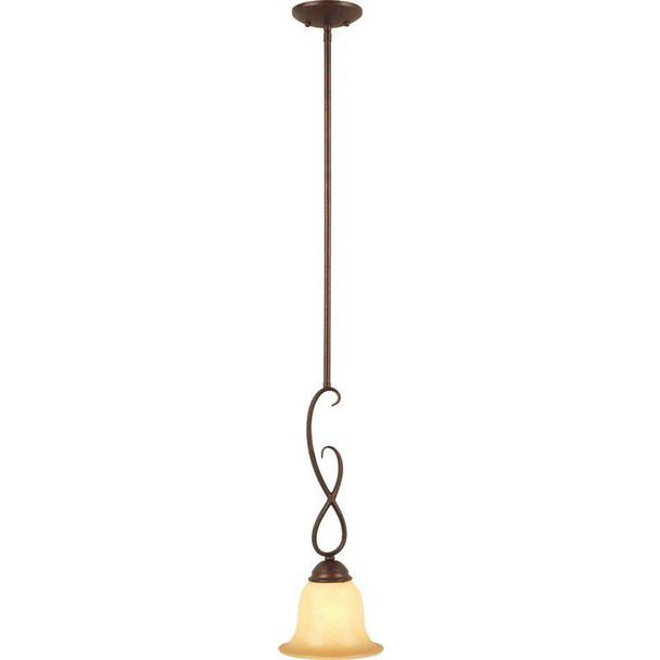 Bennington Antique Bronze 1 Light Mini-Pendant Light Fixture: 10-0977