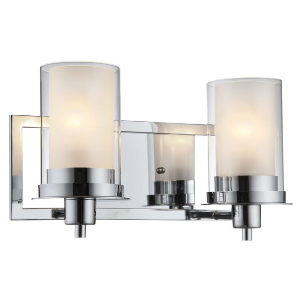 Avalon Chrome 2 Light Wall Sconce / Bathroom Fixture: 21-0454