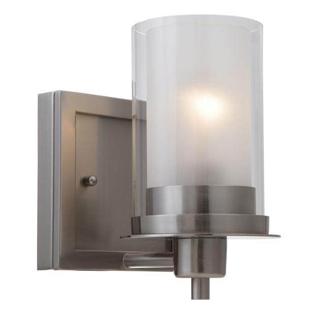 Juno Satin Nickel 1 Light Wall Sconce / Bathroom Fixture: 73466