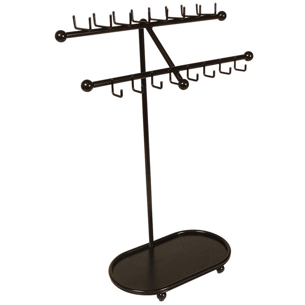 Designers Impressions JR21-ORB Oil Rubbed Bronze Free Standing Tree Jewelry Organizer and Display Rack