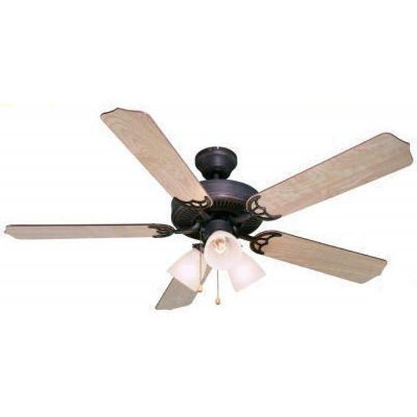 """Oil Rubbed Bronze 52"""" Ceiling Fan w/ Light Kit : 0314"""