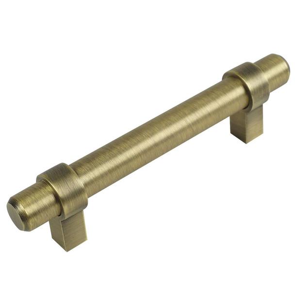 Cosmas 161-2.5BAB Brushed Antique Brass Cabinet Hardware Euro Style Bar Pull
