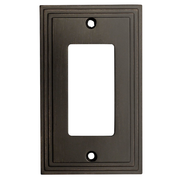 Cosmas 25000-ORB Oil Rubbed Bronze Single GFCI / Decora Wall Plate