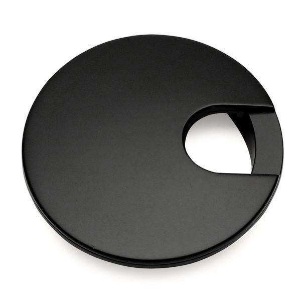 "Cosmas 50203FB Flat Black Desk Grommet - 3"" Overall Diameter"