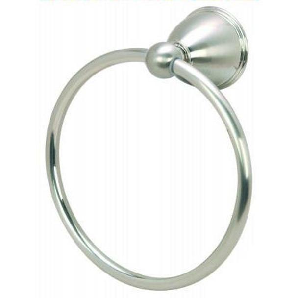 Designers Impressions Astor Series Satin Nickel Towel Ring: 19304