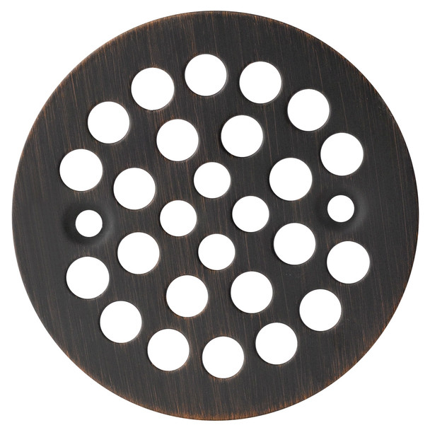 "Designers Impressions 651731 Oil Rubbed Bronze 4-1/4"" Diameter Drain Cover Strainer"