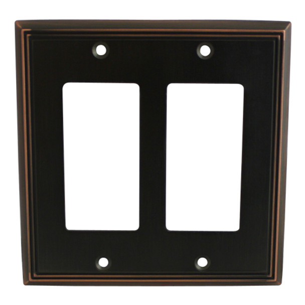 Cosmas 65088-ORB Oil Rubbed Bronze Double GFCI / Decora Wall Plate