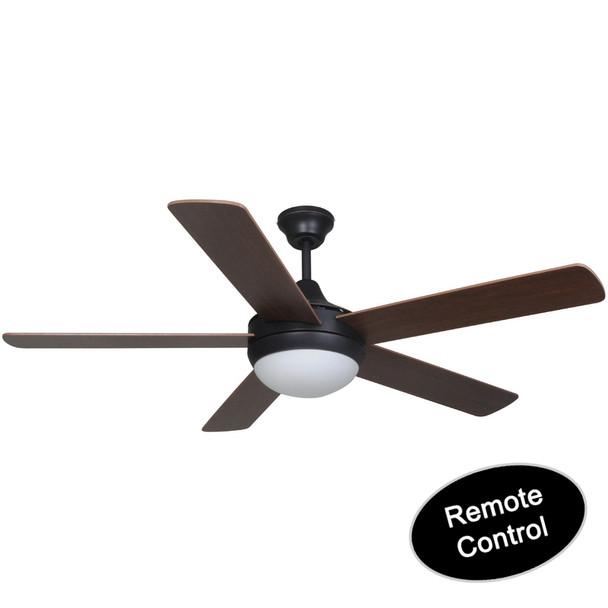 "Riverchase Oil Rubbed Bronze 52"" Ceiling Fan w/ Light Kit & Remote Control : 1144"